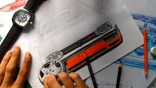 DRAWING | Desenhando - Golf MKIII GTI - L.A Design Crew