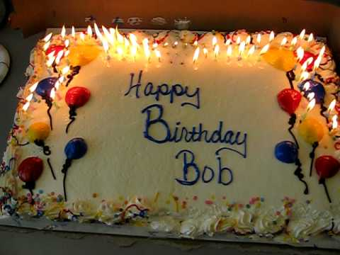 Bob Watsons birthday cake with 80 candles quickly burning down 6