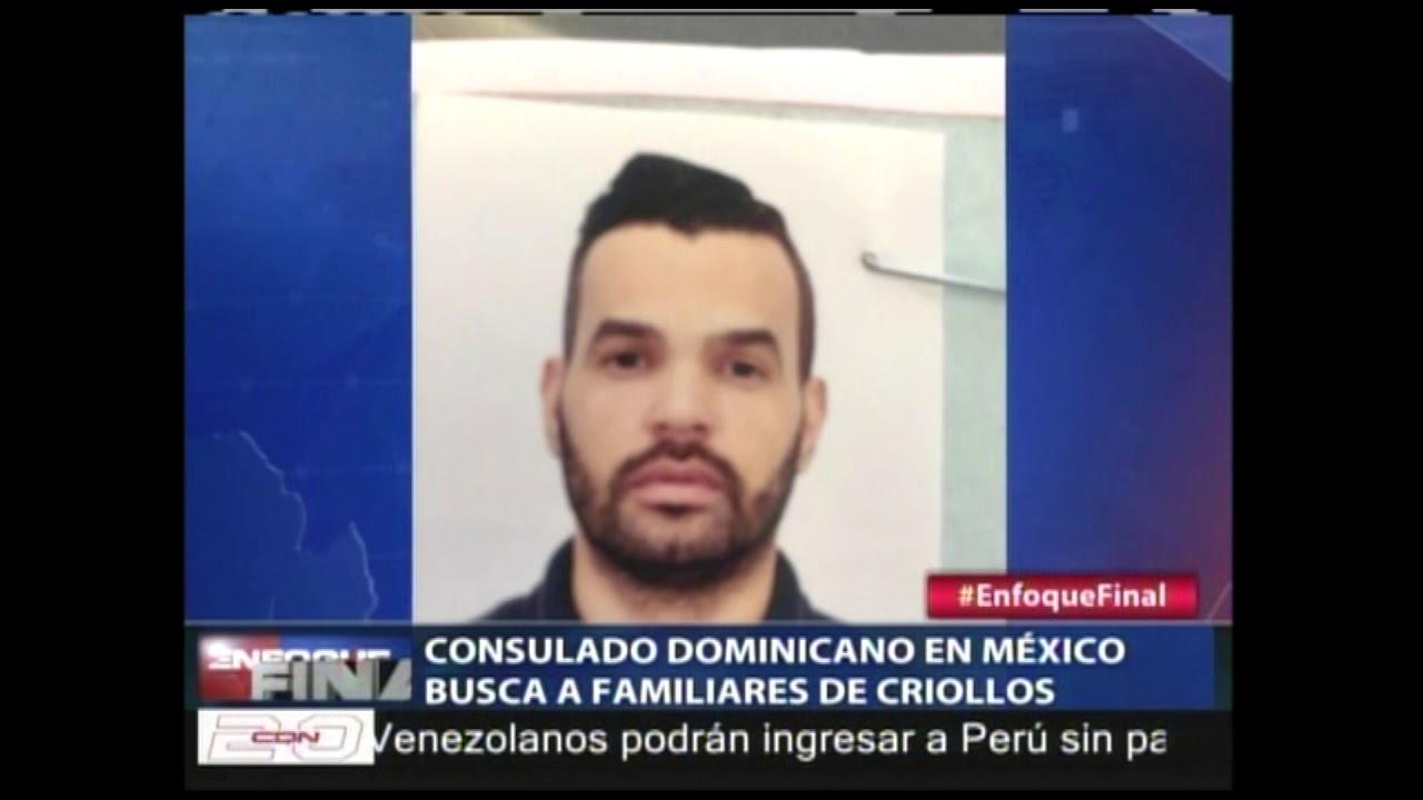 Consulado dominicano en México busca a familiares de criollos