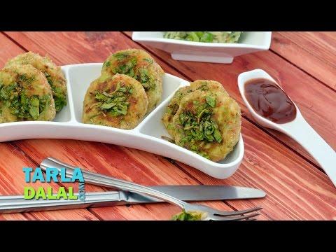 Vegetable Tikki Recipe, Quick Vegetable Tikki by Tarla Dalal