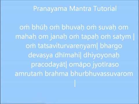 Pranayama mantra Tutorial-Srivatsa Ramaswami