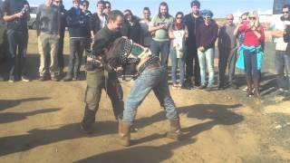 Finnish man VS Mongolian in Mongolian Wrestling.....Finnish man wins.