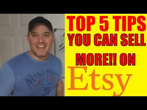 Top 5 tips Etsy success shop how to sell more with your Etsy Business