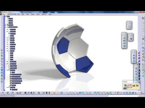 Catia V5 Tutorial Generative Shape Design How to create a Soccer Ball Start to Finish Part 3