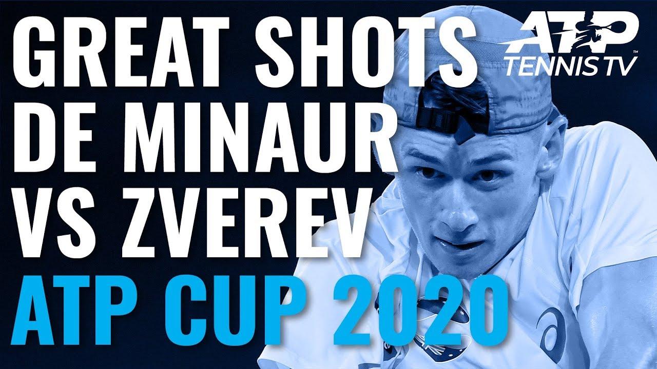Great Shots & Match Point From Alex de Minaur v Zverev | ATP Cup 2020 Day 1
