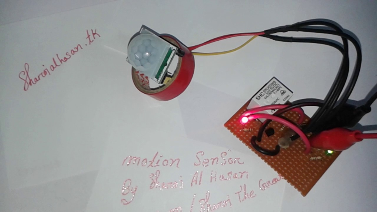 Motion Sensor Circuit With Relay Youtube Pir Diagram