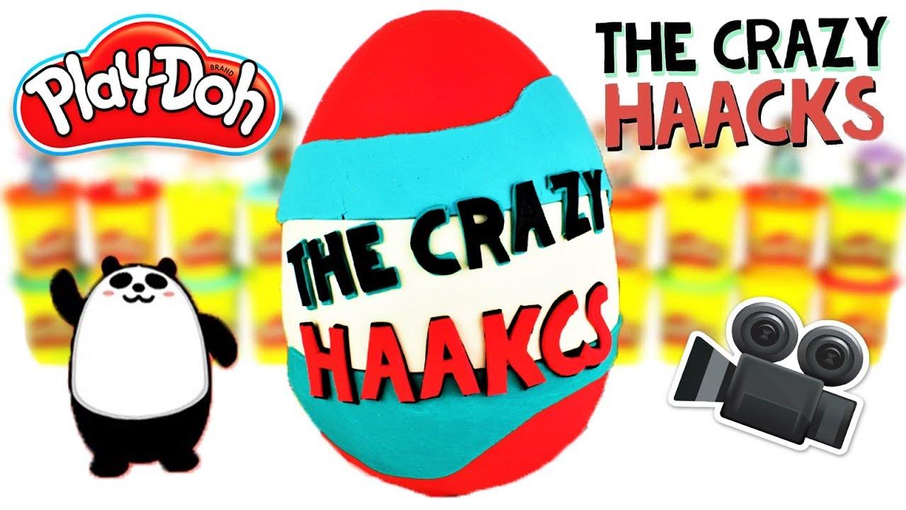 Huevo Sorpresa Gigante de The Crazy Haacks y la cámara imposible de Plastilina Play Doh en Español