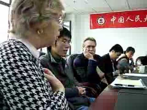 Jean Amabile Speaks to Criminal Law Class in China