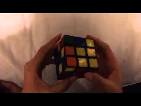 Maile solves the Rubik's cube