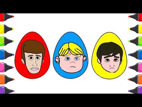 Rafadan Tayfa Süpriz Yumurta Boyama Çocuk Şarkısı Renkleri Öğreniyorum