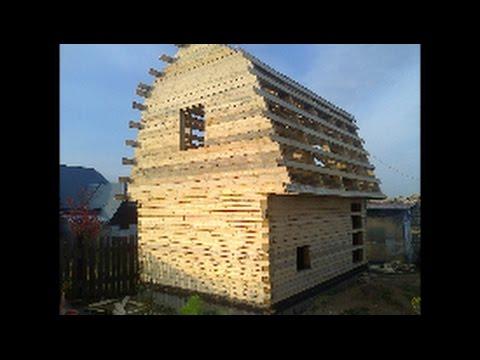 Баня дом из бруса своими руками, от фундамента до обоев.