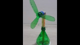 how to make a Amazing Plastic table fan with straw - kids life hacks