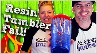 We Failed Trying to Make an Epoxy Resin Glitter a Tumbler - SPOILER ALERT FIRE and BLOOD