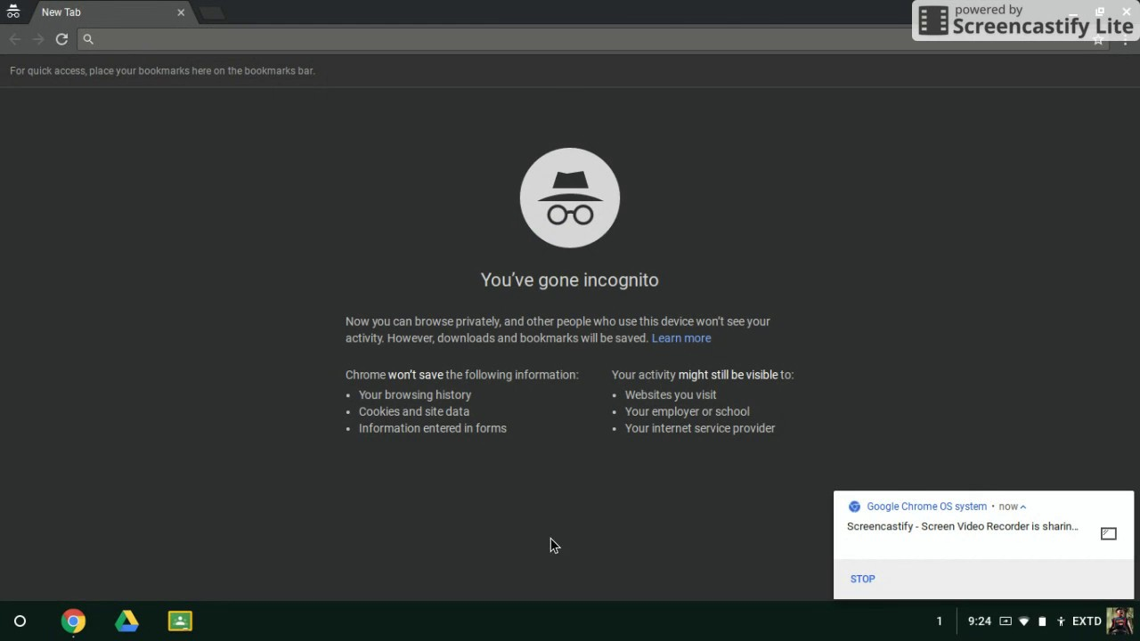 how to set browser to incognito