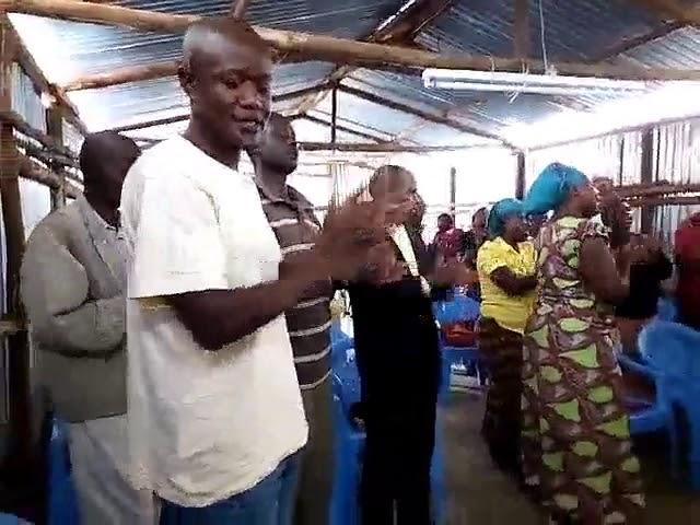Worshipping Jesus on the Lord's Day in the Kibera Slum Fellowship