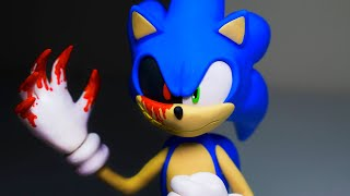 SONIC transforming into SONIC.EXE ➤ CreepyPasta Polymer clay Tutorial