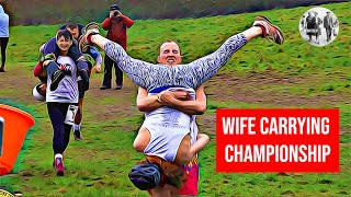 UK Wife Carrying Championships 2019 - Marriage proposal seals victory