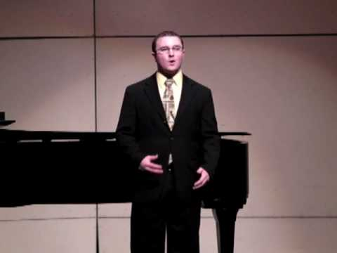 Where the Music Comes From (Lee Hoiby), Daniel Hunter, tenor