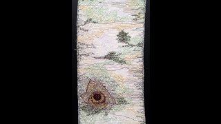Thread Sketching in Action No 69 -  Silver Birch Bark with Lichen