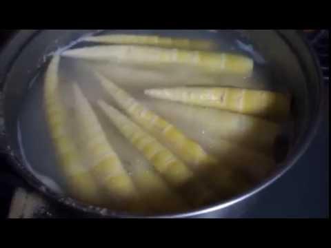 真竹で作るやわらぎメンマ 茹で 前偏