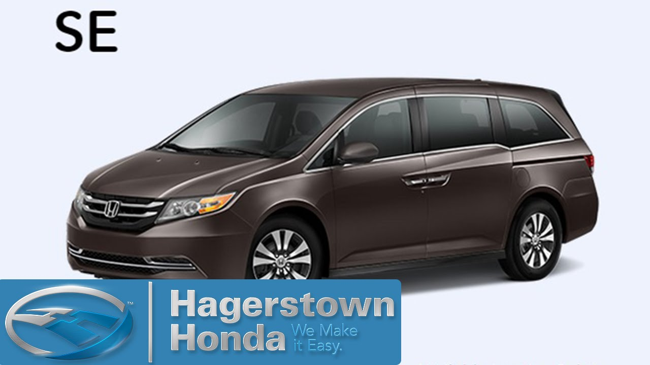 2016 honda odyssey se colors hagerstown honda youtube for 2016 honda odyssey colors