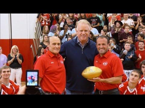 Watch NFL Legend Boomer Esiason Surprise His Former High School Coach