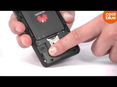 Hoe plaats ik een SIM kaart in de Huawei Ascend Y300?