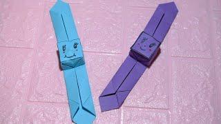 Origami Watch | How to make easy paper watch l Nursery craft ideas paper craft easy l DIYساعة ورقية screenshot 1