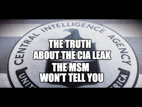 The Truth About The CIA Leak The MSM Won't Tell You