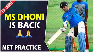 MS Dhoni is Back 🙏 | Dhoni batting Practice Full Video | Cricket Latest News