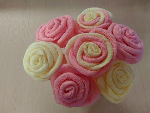 Как из салфеток сделать цветы розы / How napkins to make the rose flowers