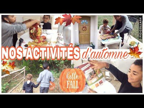 🍁activitÉs-d'automne-d'enfants-diy-couronne-recette-pandacraft-//-fall-activities-w/-kids-🍁