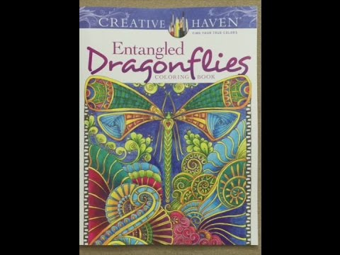 Creative Haven Entangled Dragonflies Coloring Book Adult Flip Through