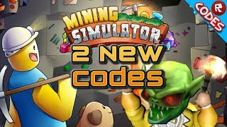 *2* New Codes for Mining Simulator (Roblox)