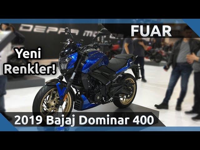 2019 Bajaj Dominar 400 Yeni Renkler Ön İnceleme - 2019 Motobike İstanbul Fuarı