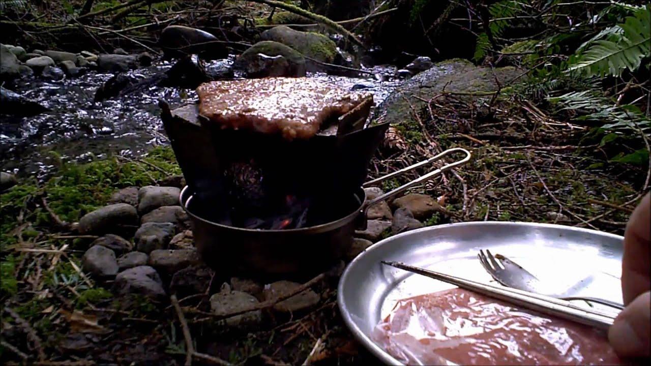 Vargo Titanium Hexagon Wood Stove Grill Youtube