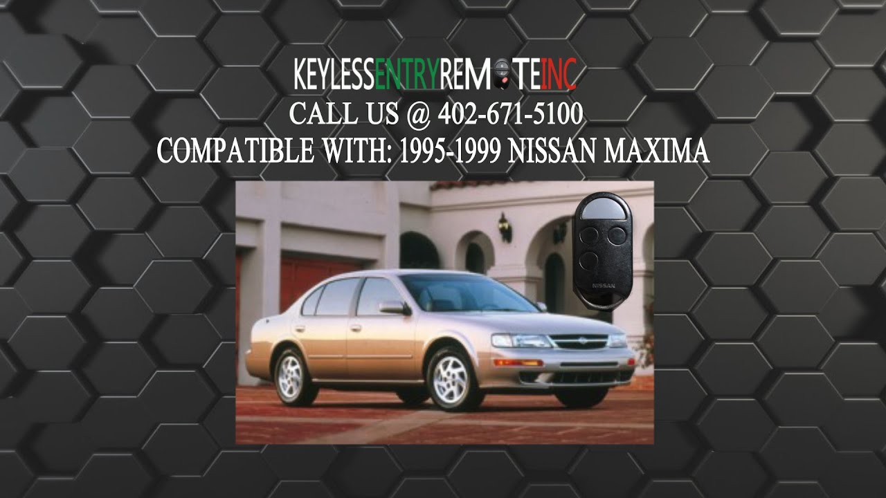 How To Replace Nissan Maxima Key Fob Battery 1995 1996 1997 1998 1999