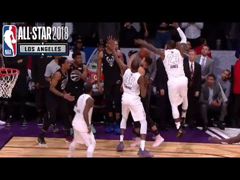 Team LeBron Excellent Defense On Last Play to Win 2018 NBA All-Star Game