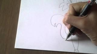 Как рисовать Мангл из FNAF2