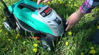 Видеообзор беспроводной газонокосилки Bosch Rotak 32 Li High Power