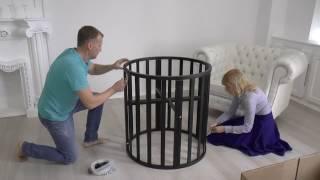 Хит продаж 2017. Детская кровать UOMO Da Vinci. Обзор, сборка круглой кроватки.