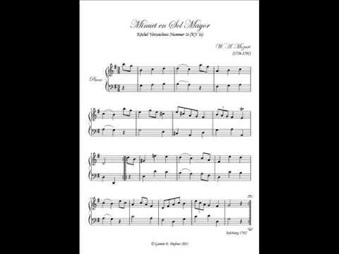 Mozart -  Minuet in G Major, KV 1