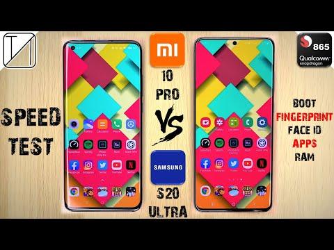 Xiaomi Mi 10 Pro Vs Galaxy S20 Ultra Speed Test