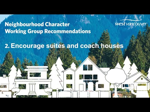 Recommendation 2: Encourage suites and coach houses