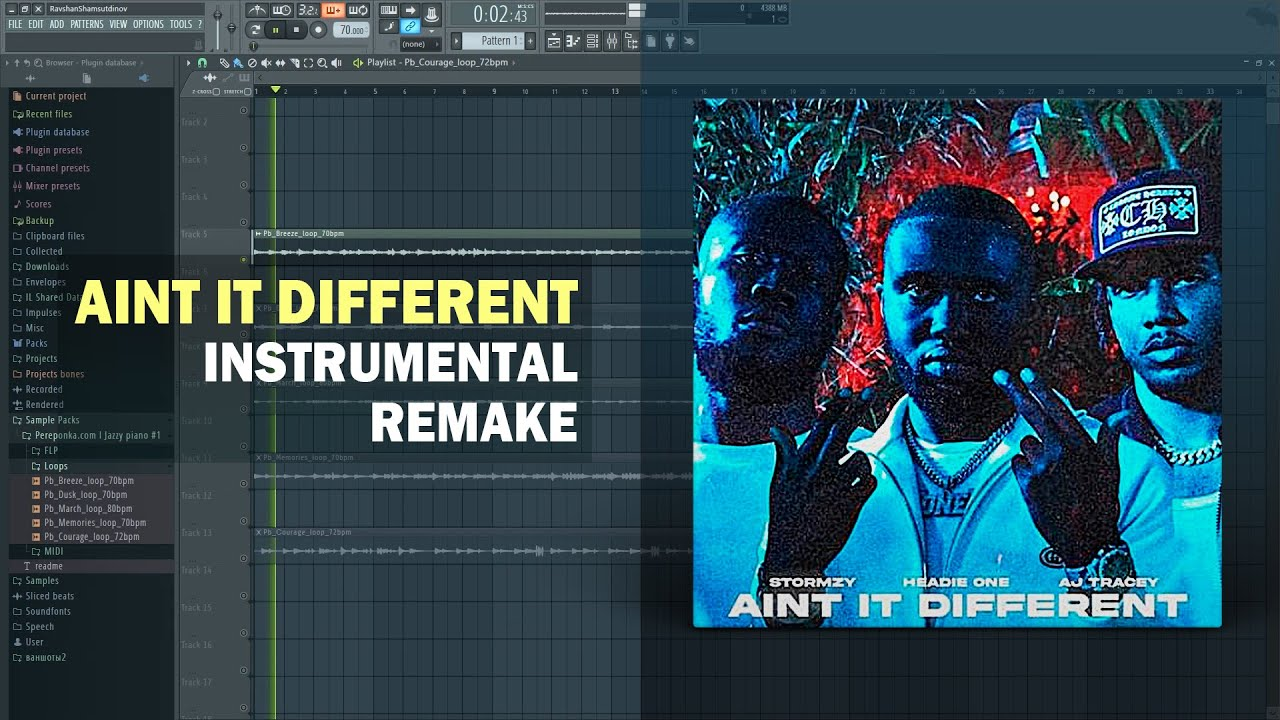 Download Headie One - Aint It Different ft. AJ Tracey & Stormzy (Instrumental) + Free FLP Download