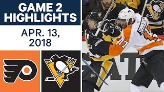 NHL Highlights | Flyers vs. Penguins, Game 2 - Apr. 13, 2018