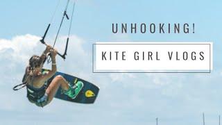 Kite Girl learning UNHOOKED Tricks kitesurfing!
