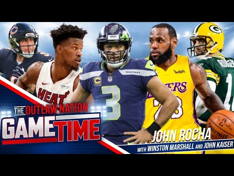NFL- Rodgers, Wilson Power Packers, Seahawks to Wins, Lakers vs Heat in NBA Finals, and MLB Playoffs