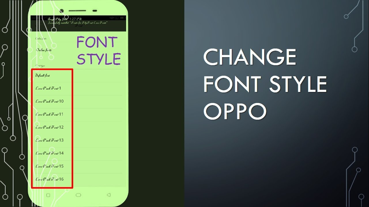 How to Change Font Style in OPPO