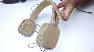 YouTube TR de ilk kartondan kulaklık yapımı (çalışan)not: Video yabancı bir kanalındır